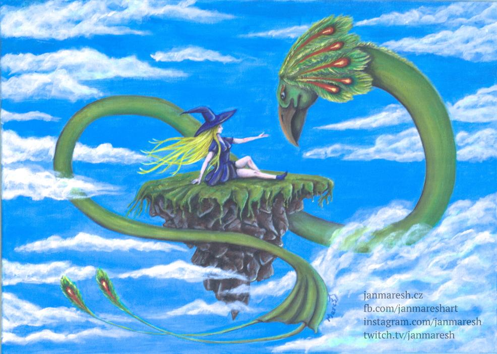 Čarodějka a drak